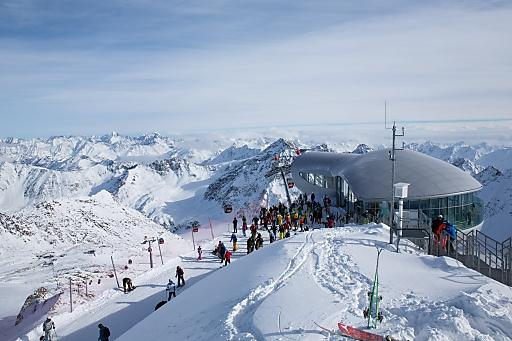 Ausblick von der Bergstation der Wildspitzbahn am vergangenen Samstag.
