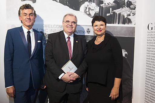 Eigentümer Michael Tojner, Justizminister Wolfgang Brandstetter, Vizebürgermeisterin Renate BraunerTS -