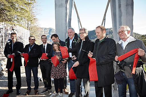 Am 22. November 2014 um 15.00 Uhr wurde die highline179 offiziell für die Besucher freigegeben.
