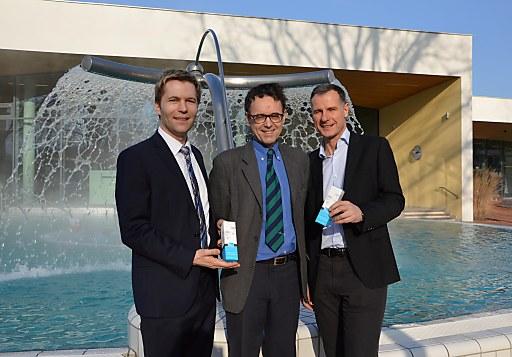 Positive Bilanz - von links Mag. Dr. Sax (Eigentümervertreter), Mag. Josef Sommer (Eigentümervertreter) und Mag. Siegfried Feldbaumer (Parktherme)
