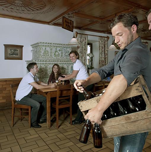 Bierlieferung im Innviertel