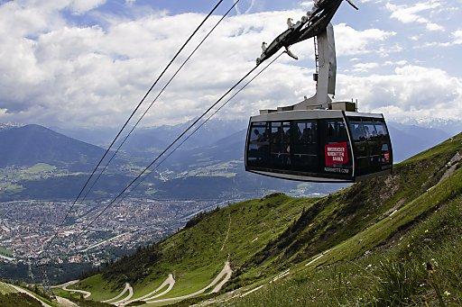 Nordkettenbahn und Panorama Innsbruck