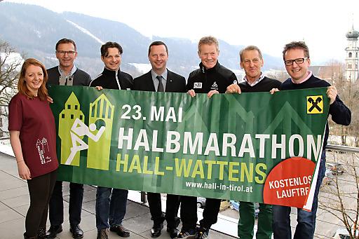 Das Organisationsteam des Raiffeisen Halbmarathon Hall-Wattens freut sich auf das Lauffest im Herzen Tirols
