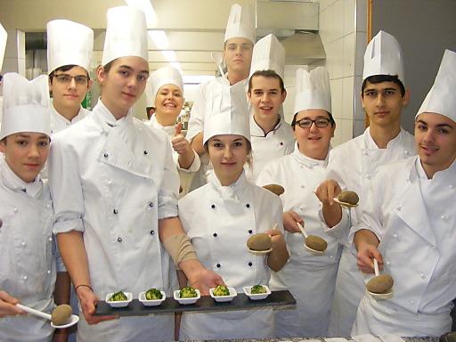 Kartoffelgerichte von Schülern der Tourismusfachschule Landeck