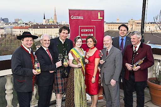 Am 09. April präsentierte die GENUSS REGION ÖSTERREICH die neuesten Qualitätsobstweine über den Dächern Wiens.