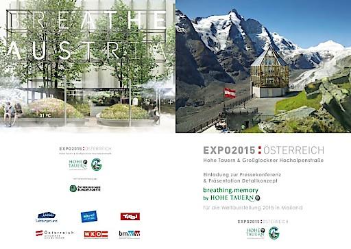 Aviso: Einladung zum Pressegespräch. Hohe Tauern und Großglockner Hochalpenstraße: EXPO Mailand bringt 50.000 Bäume nach Österreich