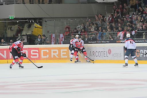 Das Eishockey Nationalteam am 28. April beim Spiel gegen die USA