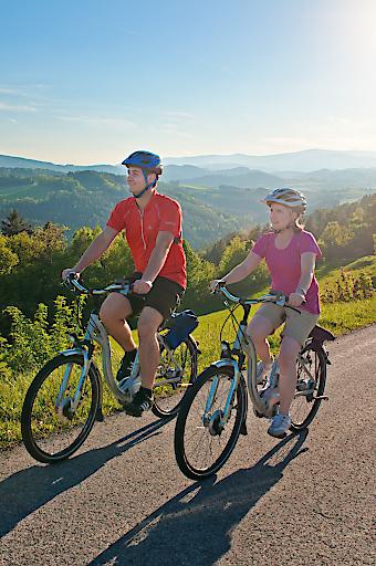 E-Bike-Region Bucklige Welt: locker hügelauf-und -abwärts durch die Wiener Alpen.