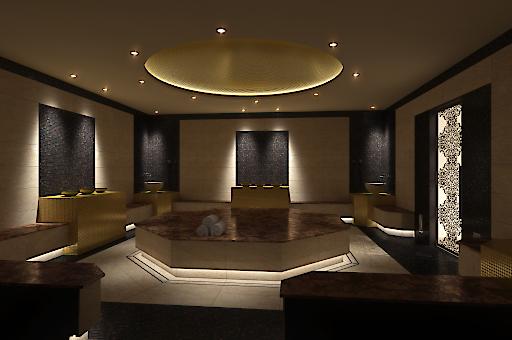 Der opulente Hamam Bereich stellt für Vip Gäste einen idealen Rückzugsort dar.