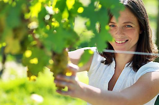 Ingrid Groiss vom Weingut Breitenwaida