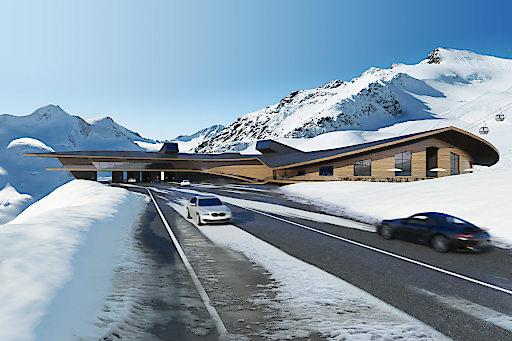 Der Top Mountain Crosspoint vereint ein Motorrad-Museum, die Talstation der Kirchenkar-Gondelbahn, die Mautstation sowie ein modernes Bedienungsrestaurant.