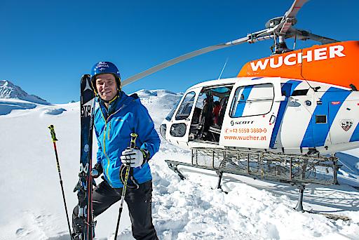 Olympiasieger Benni Raich zieht es in den Tiefschnee. Heliskiing am Kaukasus.