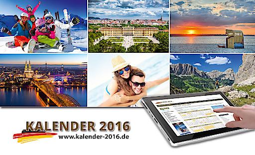 Urlaubsplanung für deutsche Touristen mit dem Onlinekalender Kalender-2016.de
