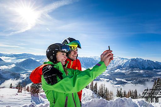 Selfie am Loser in Altaussee Skiparadies im Salzkammergut