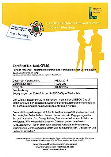 Tourismuskonferenz in der UNESCO City of Media Arts: Linz Tourismus begegnet der Zukunft
