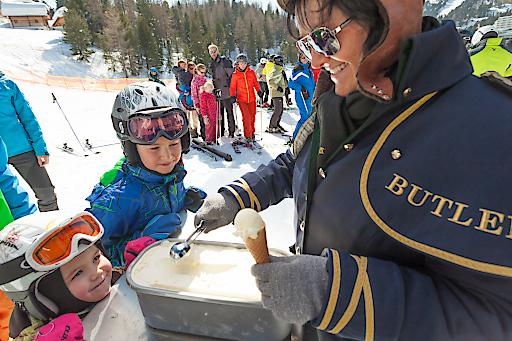Bergbauern-Eis vom Pistenbutler