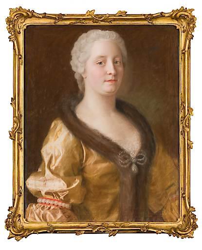 Maria Theresia im pelzverbrämten Kleid (1743), Maler: Jean-Étienne-Liotard. Rechte: Dauerleihgabe der Österreichische-Nationalbank.