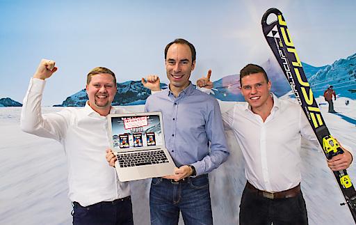 Markus Steinbrugger, Herwig Probst und Stefan Winter freuen sich über den Erfolg Europas größter Crowdfunding-Kampagne