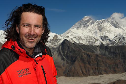 Weltweitwander-Gründer Christian Hlade im Himalaya