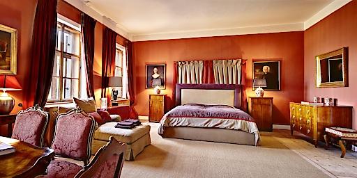 Hotel Suite auf Schloss Friedberg.