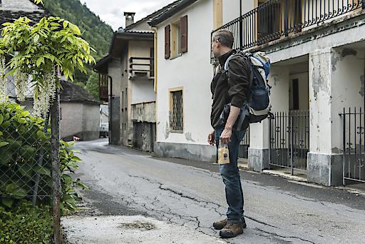 Schweiz. ganz natürlich. Onsernonetal (Mühle, Seilbahn, Alp Salei) in Vergeletto, Ticino. (Modell: Daniel K./ Mühle Betreiber: Ilario Garbani)