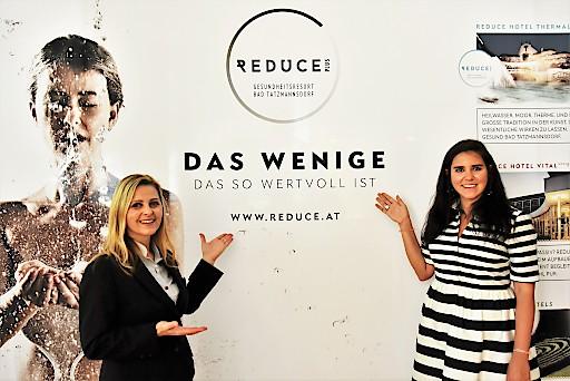 v.l. Marketingleiterin Alexandra Klucsarits mit Interims-Geschäftsführerin des Burgenland Tourismus Raphaela Schaschl