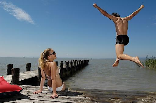 Beste Stimmung am sommerlichen Neusiedler See. Nicht nur wegen des perfekten Sommerwetters, sondern auch wegen der sehr guten touristischen Entwicklung