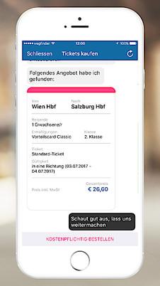 Chat Dir Dein Ticket Die Neue Art öbb Und öffi Tickets Zu Kaufen