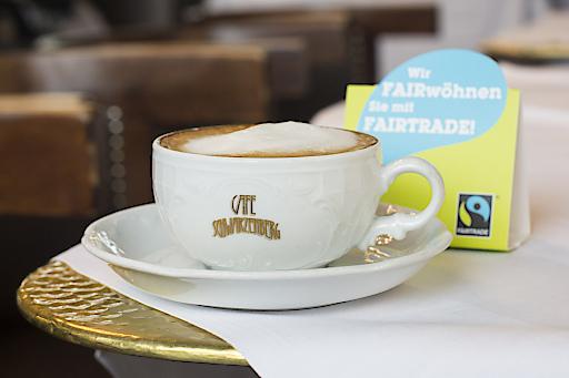 Fairer Kaffee im Café Schwarzenberg