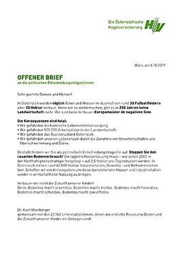 Offener Brief Der Hagelversicherung Für Den Schutz Unserer Böden