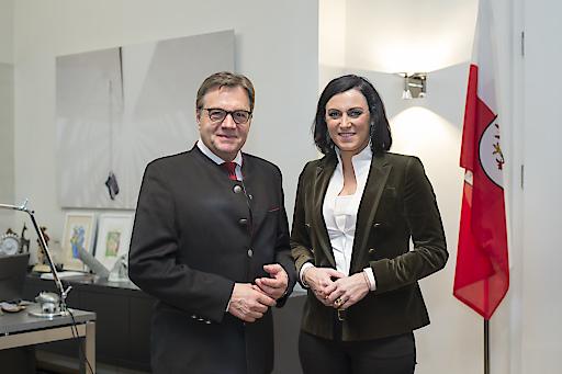 LH Platter empfing BMin Köstinger in seinen Amtsräumlichkeiten in Innsbruck