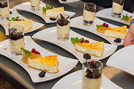 Auch die Kulinarik kam in der Alten Universität in Graz nicht zu kurz.
