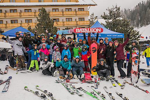 TeilnehmerInnen Freestyle Day 2018 im Snowpark Innerkrems