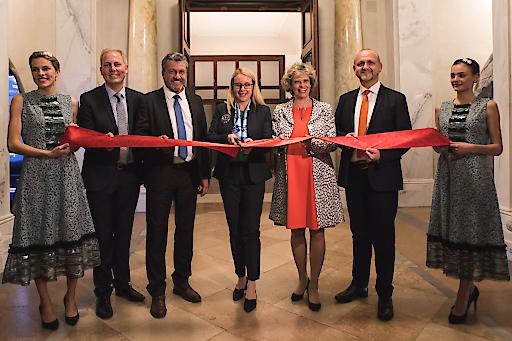 v.l.n.r. Paul Frey, Reinhold Sahl, Margarete Schramböck, Sabine Haag, Norbert Kettner