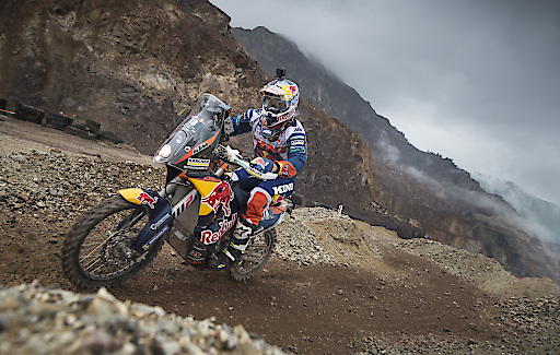 Matthias Walkner races during the Prolog of the Red Bull Hare Scramble 2017 in Eisenerz, Austria on June 16,2017 // Philip Platzer/Red Bull Content Pool // P-20170616-00380 // Usage for editorial use only // Please go to www.redbullcontentpool.com for further information. //