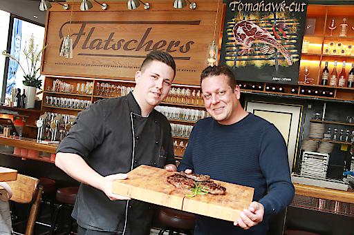 https://www.apa-fotoservice.at/galerie/13643 Philipp Demel (Küchenchef Flatschers Restaurant & Bar) und Andreas Flatscher (Gastronom)