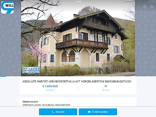 Die Gründerzeitvilla von Lilli Lehmann am Mondsee.