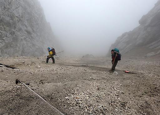 Bei jedem Wetter im Einsatz: Die Wegewarte des Alpenvereins.