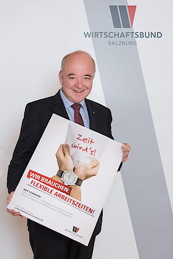 Im Bild: Wirtschaftsbund-Landesobmann Präs. KommR Konrad Steindl