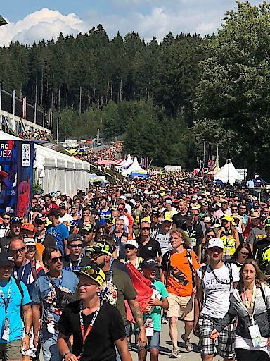 Der Andrang bei der Moto GP ist ungebrochen!