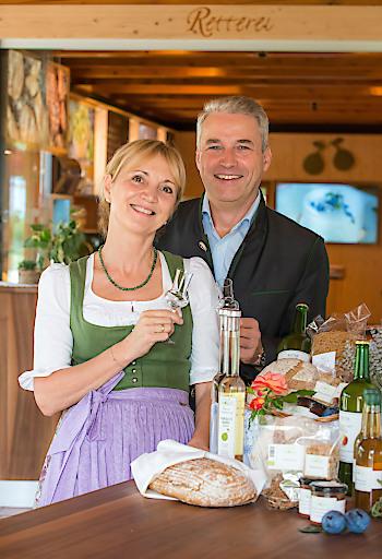 Ulli und Hermann Retter in ihrem am 31. August 2018 eröffneten BioGut direkt neben dem Hotel Retter in Pöllauberg