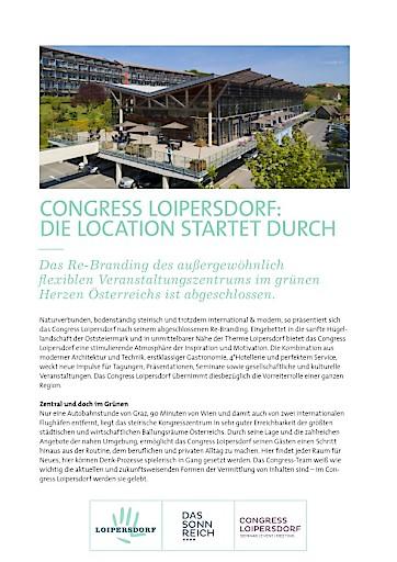 Congress Loipersdorf startet voll durch