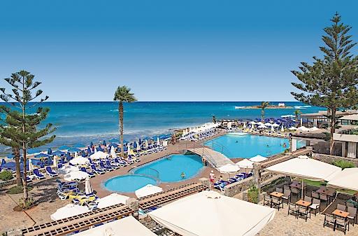 """731 Hotels hat alltours in Griechenland im Programm. Darunter auch das neue Malia Beach (4*), das wie bereits das Zorbas Village und das Carolina Mare als allsun Hotel geführt werden soll. (Foto alltours). Weiterer Text über ots und www.presseportal.de/nr/53186 / Die Verwendung dieses Bildes ist für redaktionelle Zwecke honorarfrei. Veröffentlichung bitte unter Quellenangabe: """"obs/alltours flugreisen gmbh"""""""