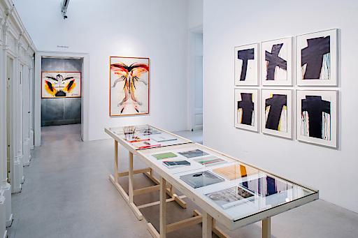 Kabanen Ost, Arnulf Rainer Museum, Ausstellungsansicht