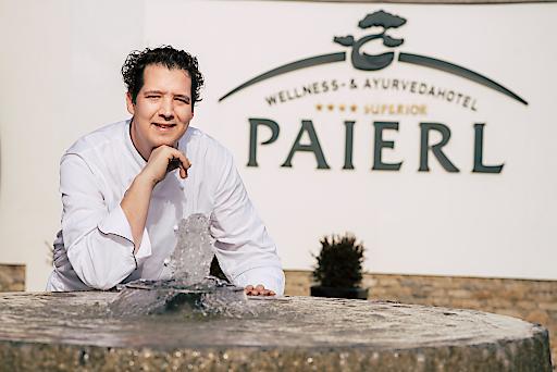 Karrieresprung von Markus Lengauer (im Bild). Der 34-jährige ist neuer Küchenchef im Wellness- & Ayurvedahotel Paierl in Bad Waltersdorf.
