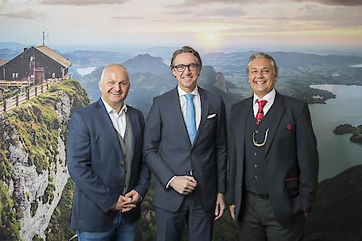 v.l.n.r.: Mag. Christian Wörister, Dr. Leonhard Schitter, M.A., Mario Mischelin