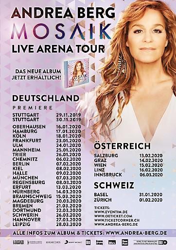 Andrea Berg Mosaik-Live Arena Tour Artwork