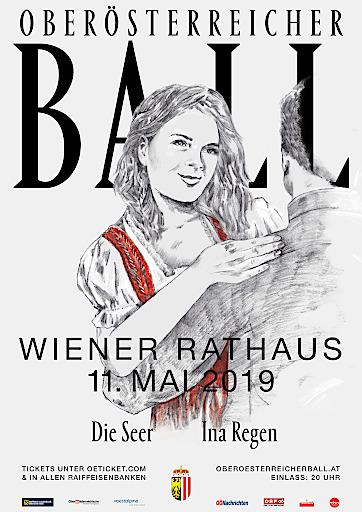 Plakatsujet Oberösterreicher Ball in Wien
