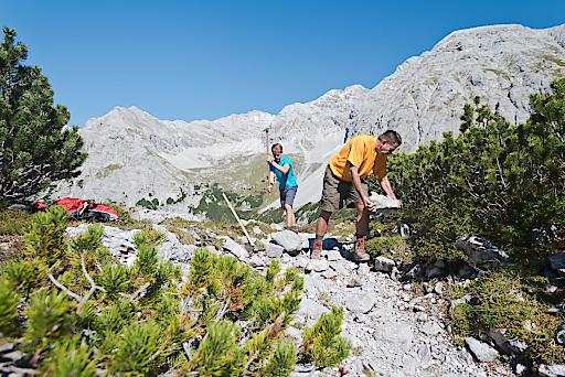 Wegsanierung auf der Nordkette bei Innsbruck (Information: Bild nicht von 2019)