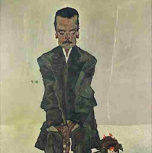 Egon Schiele (1890-1918), Eduard Kosmack, 1910, Öl auf Leinwand